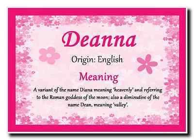 Deanna Personalised Name Meaning Jumbo Magnet