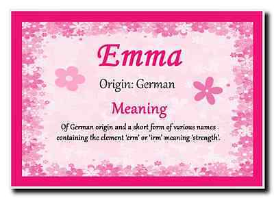 Emma Personalised Name Meaning Jumbo Magnet
