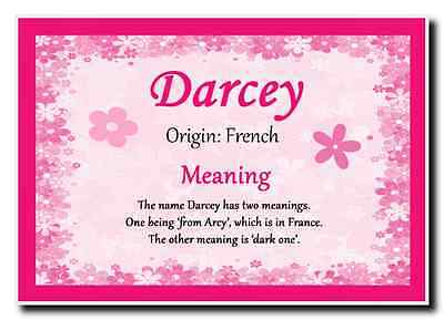 Darcey Personalised Name Meaning Jumbo Magnet