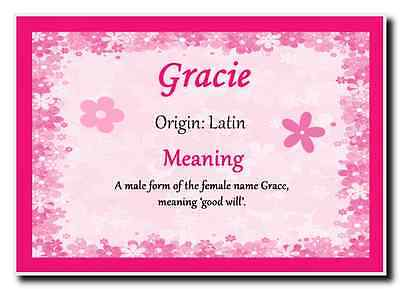 Gracie Personalised Name Meaning Jumbo Magnet