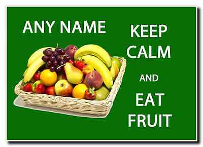 Keep Calm And Eat Fruit Personalised Jumbo Magnet