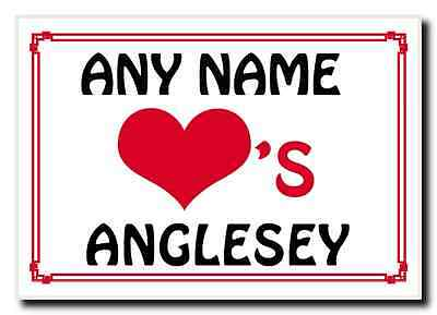 Love Heart Anglesey Personalised Jumbo Magnet