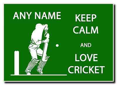 Keep Calm And Love Cricket Personalised Jumbo Magnet