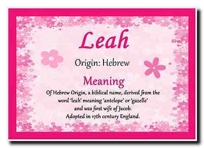 Leah Personalised Name Meaning Jumbo Magnet