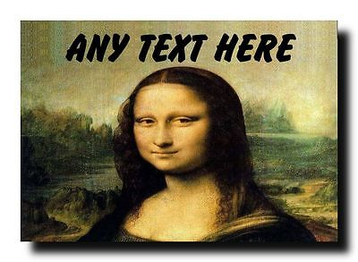 Mona Lisa Personalised Jumbo Magnet