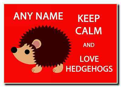 Keep Calm And Love Hedgehogs Personalised Jumbo Magnet
