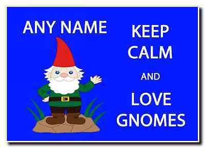 Keep Calm And Love Gnomes Personalised Jumbo Magnet