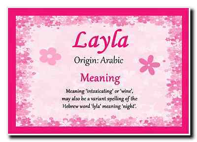 Layla Personalised Name Meaning Jumbo Magnet