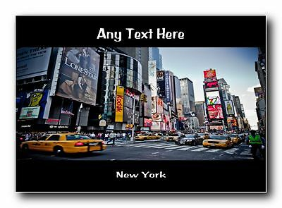New York Personalised Jumbo Magnet