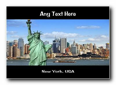 New York, USA Personalised Jumbo Magnet
