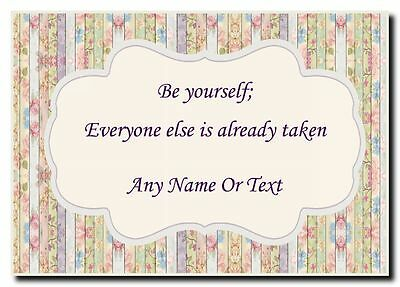 Quote Be Yourself Personalised Jumbo Magnet