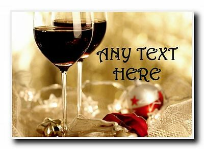 Wine Christmas Personalised Jumbo Magnet