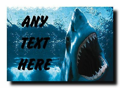 Scary Shark Personalised Jumbo Magnet
