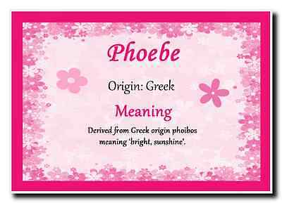 Phoebe Personalised Name Meaning Jumbo Magnet