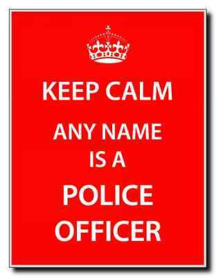 Police Officer Personalised Keep Calm Jumbo Magnet