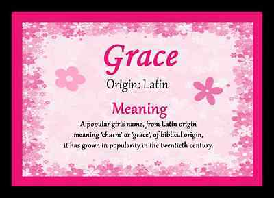 Grace Personalised Name Meaning Placemat