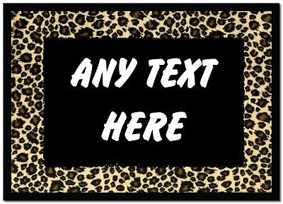 Leopard Print Personalised Dinner Table Placemat