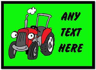 Green Tractor Personalised Dinner Table Placemat
