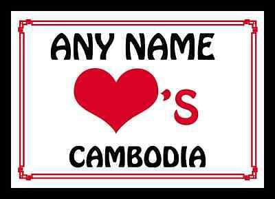 Love Heart Cambodia Personalised Placemat