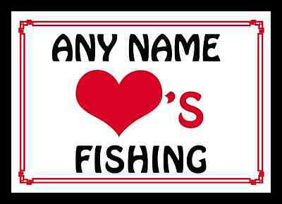 Love Heart Fishing Personalised Placemat