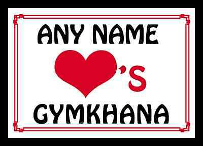 Love Heart Gymkhana Personalised Placemat