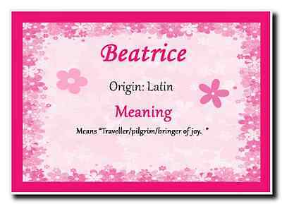 Beatrice Personalised Name Meaning Jumbo Magnet