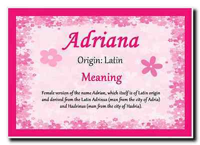 Adriana Personalised Name Meaning Jumbo Magnet