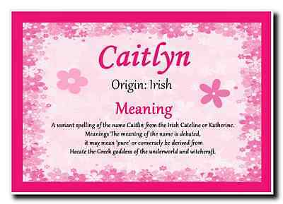 Caitlyn Personalised Name Meaning Jumbo Magnet
