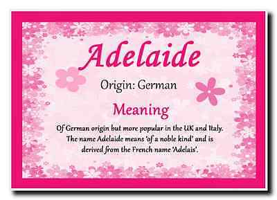Adelaide Personalised Name Meaning Jumbo Magnet