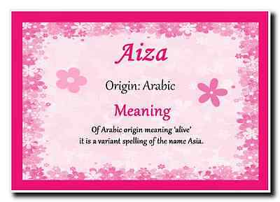 Aiza Personalised Name Meaning Jumbo Magnet