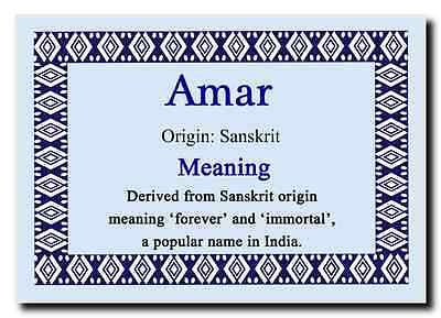 Amar Personalised Name Meaning Jumbo Magnet
