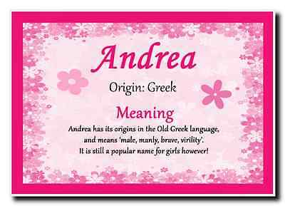 Andrea Personalised Name Meaning Jumbo Magnet