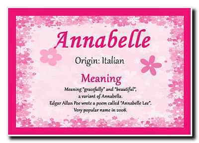 Annabelle Personalised Name Meaning Jumbo Magnet