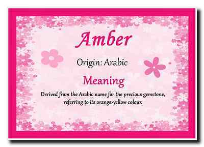 Amber Personalised Name Meaning Jumbo Magnet