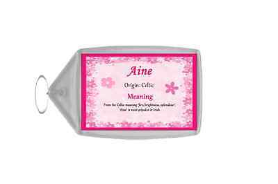Aine Personalised Name Meaning Keyring