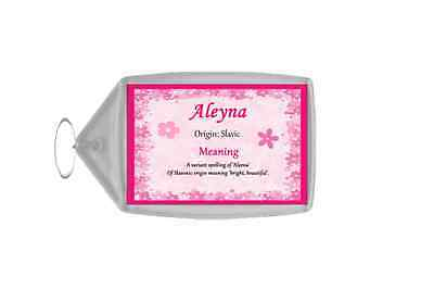 Aleyna Personalised Name Meaning Keyring