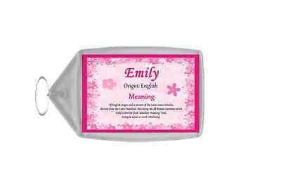Emily Personalised Name Meaning Keyring
