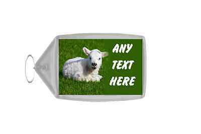 Lamb Personalised Keyring
