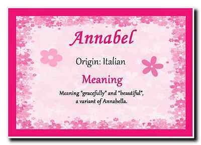 Annabel Personalised Name Meaning Jumbo Magnet