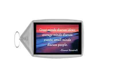 Inspirational & Motivational Quote Personalised Large Keyring - Quote 19