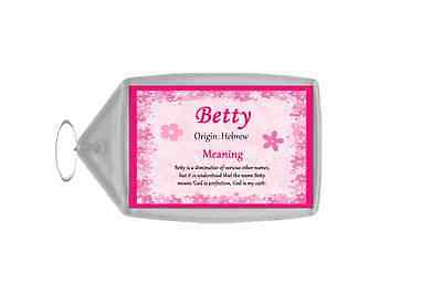 Betty Personalised Name Meaning Keyring