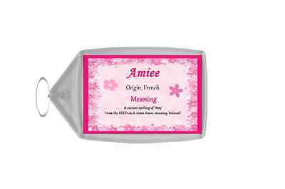 Amiee Personalised Name Meaning Keyring