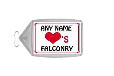 Love Heart Falconry Personalised Keyring