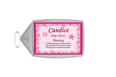Candice Personalised Name Meaning Keyring