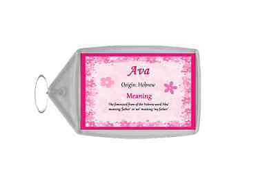 Ava Personalised Name Meaning Keyring