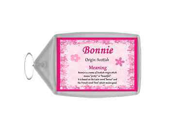 Bonnie Personalised Name Meaning Keyring