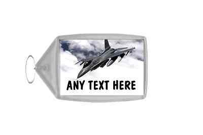 Fighter Jet Plane Personalised Keyring
