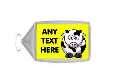 Funny Cow Personalised Keyring