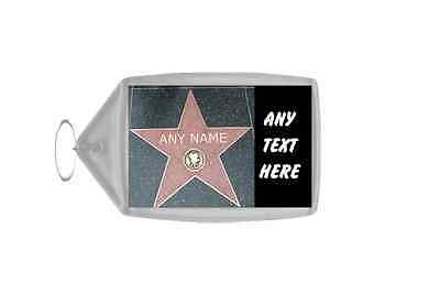 Hollywood Star Personalised Keyring