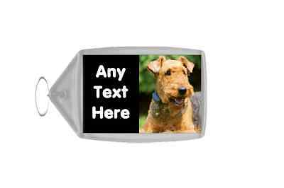 Airedale Terrier Dog Personalised Keyring